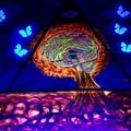 Atomic Brain - under black light, image varies depending on the type of black light you have.