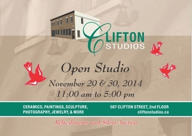 CLIFTON STUDIOS ~ OPEN STUDIO TOUR ~